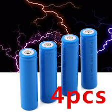 4X 18650 Li-ion 5000mAh 3.7V Rechargeable Battery for LED Torch Flashlight fdj