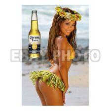 Fridge Magnet Sexy Corona tiki Hawaiian hula girl sexy hot babe bar decor art