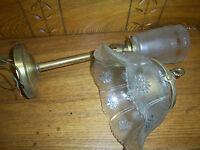Vintage Paddle Knob Brass Light Fixture Ostrander