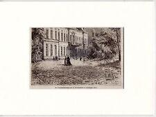 Antique matted print Government Building Groningen Netherlands / provinciehuis