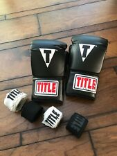 Title Boxing Training Gloves Size Xl, Beautiful Condition with 4 Cotton Wrap