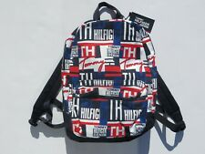 Tommy Hilfiger Backpack Large Bag Logo Backpacks luggage Bags Blue NEW NWT