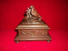 C 1880 Black Forest Carved Partridge Music Box