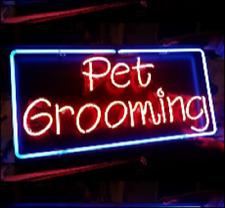 "New Pet Grooming Bar Pub Wall Decor Acrylic Neon Light Sign 17""x12"""