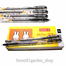 x6  Dong-A Miffy 0.5mm Gel ink Scented Rollerball pen - Black -  6 Count