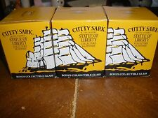 Lot of 3 1993 Cutty Sark Statue Of Liberty Collective Glass With Original Box