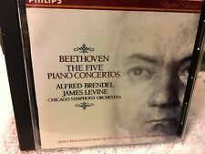 CD: BEETHOVEN  The Five Piano Concertos  Alfred Brendel  James Levine Chicago S