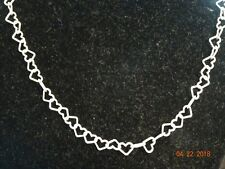"Sterling Silver Heart Link 17"" Necklace"