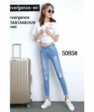 SKINNY JEANS EMBROIDERED #5085 SIZE 2XL