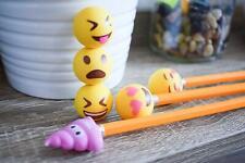 Pencil Top Erasers - Emoji Erasers for Kids - Fun Pencil Top Eraser - Everything