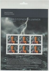 Canada - *NEW* Christopher Plummer Stamp Pane  - MNH