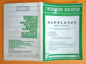 Rivista L'INFORMATORE SCOLASTICO 15/16 1-16 Aprile XXVII Annata 1984 scuola