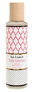 Love & Nature TRULY FABULOUS Body Mist SPRAY Fruity Floral Scented Fragrance NEW