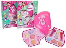 16 Pcs KIDS GIRLS MAKE UP SET ICE CREAM or TEA POT 2TIER CASE PINK TOY XMAS GIFT