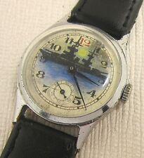 USSR SOVIET wristwatch ZIM marine Design. The dial is hand-drawn. The cruiser.