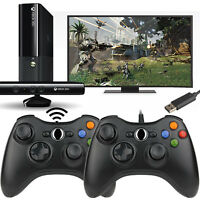 Black USB Wired/Wireless GamePad Controller For Microsoft Xbox360 Console & PC