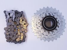 SunRace 5 Speed Freewheel & KMC Z Chain Set Bicycle Gears 14-28T