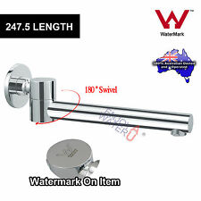 Bathroom Spa Basin Bath Water Outlet Spout 180 Swivel Round Mixer Tap Chrome