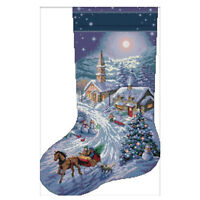 Cross Stitch Kits Embroidery Kit - Christmas Stockings, Snow View Patterns SS