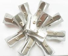 10 X Solo agujero Sacapuntas escuela estudiante de arte de aluminio