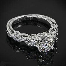 Certified 2.55CT White Round Diamond 14KT White Gold Engagement Wedding Ring