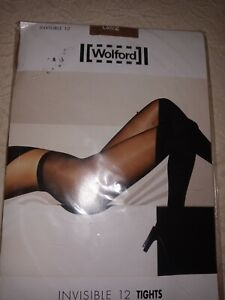 NEW WOLFORD Invisible 12 Tights Panty, Large, Honey