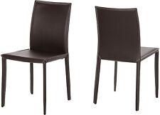 AC Design Furniture Stuhl Emma, B:46 x T:57,5 x H: 90 cm, Echt Leder, Braun -NEU