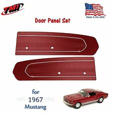 Dark Red Door Panels For 1967 Mustang -Pair - by TMI-Made in the USA  In Stock!!