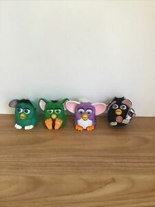 Vintage 1998 McDonalds Furby Happy Meal Toys Keychain lot of 4