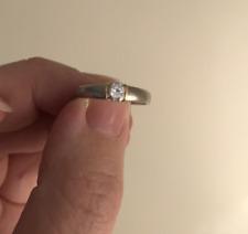 950 Platinum Diamond solitaire engagement ring 0.33ct Sz P