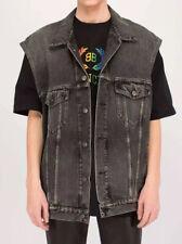 BALENCIAGA⚡️Faded black denim sleeveless oversize trucker vest jacket 44FR - Med