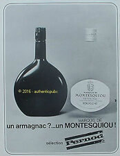 PUBLICITE MARQUIS DE MONTESQUIOU ARMAGNAC PERNOD CONDOM DE 1967 FRENCH AD PUB