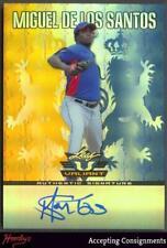 2011 Leaf Valiant Draft Blue Miguel De Los Santos 58/99 Autograph AUTO Rookie RC