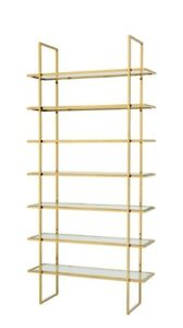 Eichholtz Chambray Luxurious Gold Finish Clear Glass Cabinet