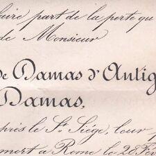 Charles Fernand Louis Marie De Damas D'Antigny Rome 1876 Cirey-sur-Blaise