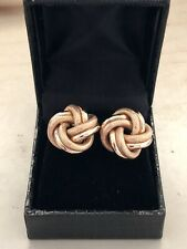 9ct. 375. Yellow Gold. Large Knot Earrings. Fully Hallmarked
