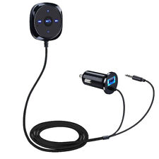 FM Bluetooth Car Handsfree Speaker BT 2.1 5V 2.1A USB Car Charger MP3 Player