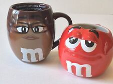 M&M's WORLD very large mugs MS BROWN RED M. Very good condition