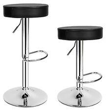 Juego de 2 taburetes de bar taburete redonda diseño barra set cocina negro