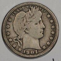 1901 Barber Quarter Fine