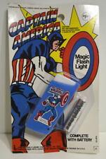 CAPTAIN AMERICA MAGIC FLASH LIGHT w Battery Larami 1974 MOC High Grade Marvel