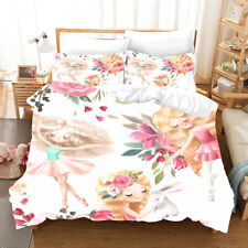 3D Fairy Tale Girl Quilt Cover Set Bedding Duvet Cover Single/Queen/King 38