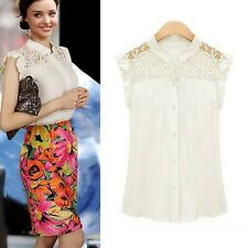 f6a47c17c20d2 New listingWhite Womens shirt Sexy Blouse Ruffle Trim Glamour Casual Spring  Top size 10