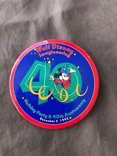 Disney Pin 25663 USED Imagineering 40th Anniversary Holiday Party Button (BLUE)