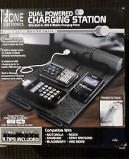 Zone Dual Powered Charging Station Mat USB Mobile Ports NEW