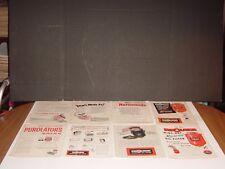 PUROLATOR OIL AIR & FUEL 16 PAGES PRINT ADS ORIGINAL MOTOR MAGAZINE 1947 -1958