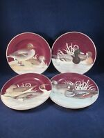 Fitz and Floyd Canard Luncheon Dessert Cake Game Duck Plates 1995 Set of 4 EUC