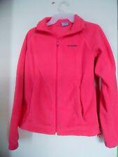 Donna Columbia Abbigliamento Sportivo Company Rosa in Pile Giacca Cerniera TG. M