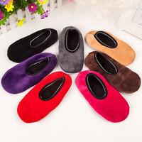 EE_ Slipper Winter Men Ladies Indoor Floor Soft Non-slip Flock Home Shoes Sock B
