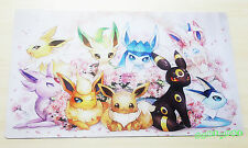 E796 Free Mat Bag Eevee Eevolution Play Mat Custom Pokemon Card Game Playmat TCG